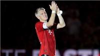 VIDEO bóng đá: Bastian Schweinsteiger giải nghệ ở tuổi 35