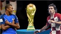 Trực tiếp chung kết World Cup 2018 Pháp vs Croatia