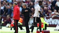 Đá tệ trước West Ham, Pogba quyết 'đá bay' Mourinho khỏi M.U?
