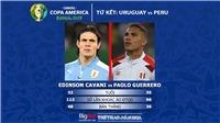 Soi kèo bóng đá Copa America hôm nay: Uruguay vs Peru (02h00, 30/6)