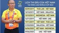 Lịch thi đấu vòng loại World Cup 2022 bảng G: Việt Nam đấu với Thái Lan. VTV6 trực tiếp