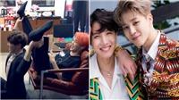 J-Hope và Jimin BTS khiến fan chết cười khi sáng tạo bài tập gym