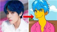 V BTS yêu cầu ARMY trổ tài,vẽtheo kiểu The Simpsons