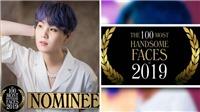 Suga BTS được đề cử cho danh sách 100 khuôn mặt đẹp trai nhất thế giới 2019