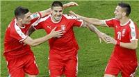 Serbia 1-2 Thụy Sỹ: Ngược dòng ngoạn mục, Thụy Sĩ tràn trề hy vọng đi tiếp