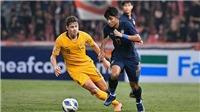 Cục diện bảng A U23 châu Á: Thua ngược Úc, Thái Lan có nguy cơ bị loại