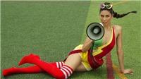 Á hậu Nguyễn Thị Loan nóng bỏng khoe vòng 1 trong bộ ảnh hòa nhịp World Cup 2018