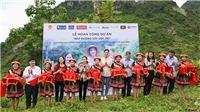 Hoa hậu Lương Thuỳ Linh trở lại Lũng Lìu khánh thành con đường hơn 2 tỷ đồng