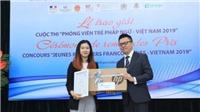 Trao giải thưởng Cuộc thi 'Phóng viên trẻ Pháp ngữ-Việt Nam 2019'