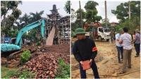 Hà Nội: Đang cưỡng chế phá dỡ 'cung điện' xây trái phép tại Ba Vì