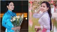Ngắm nhan sắc đời thường của Hoa khôi Tràng An tặng hoa Tổng thống Trump