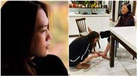 Ngày Quốc tế Phụ nữ, Mỹ Tâm khiến fan 'phát sốt' với hình ảnh cắt móng chân cho mẹ
