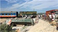 Vụ lật tàu tại Thanh Hóa: Hơn 300 công nhân nỗ lực thông tuyến đường sắt Bắc - Nam