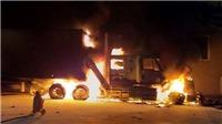 Điều tra nguyên nhân xe container bốc cháy tại bãi đỗ xe của cây xăng