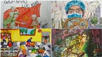 Thưởng lãm những bức ký họa 'Lòng tốt khó lây' chống dịch COVID-19