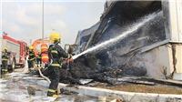 Vụ cháy Nhà máy sơ sợi tại Quảng Ninh: Lực lượng phòng cháy Đông Hưng (Trung Quốc) hỗ trợ chữa cháy