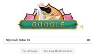Google thay logo chào mừng Ngày Quốc khánh với áo dài, nón lá, hoa sen