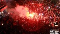 'Ánh hào quang' bừng sáng Hồ Gươm sau chiến thắng của U23 Việt Nam