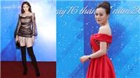Phương Oanh 'Quỳnh búp bê' váy đỏ 'đẹp không góc chết' cùng Hoa hậuKỳ Duyên chấm thi 'Học sinh thanh lịch'
