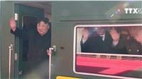 VIDEO: Chủ tịch Kim Jong-Un rời nhà ga Bình Nhưỡng để đến thủ đô Hà Nội
