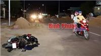 Hai xe máy tông trực diện, một người chết, 2 người bị thương