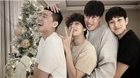 V BTS đón Giáng sinh vô cùng vui vẻ cùng hội bạn thân toàn mỹ nam