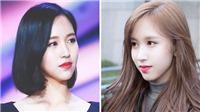 'Thiên nga đen' Mina Twice sở hữu gương mặt đẹp hoàn hảo với mọi kiểu tóc