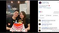 Đình Trọng lãng mạn bên người yêu lâu năm trong ngày sinh nhật