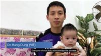 Hùng Dũng cùng con trai lên sóng AFC