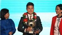 Quang Hải đoạt Quả bóng vàng Việt Nam 2018 với số phiếu gấp 3 lần Anh Đức