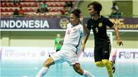 Tuyển futsal Việt Nam thua Malaysia trên chấm 11m