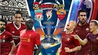 Video clip bàn thắng AS Roma 4-2 Liverpool (tổng 6-7)