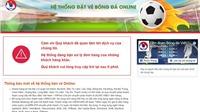 VFF thông báo về việc xuất hiện website bán vé bóng đá giả mạo LĐBĐVN