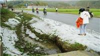 Mưa đá với mật độ dày tại Điện Biên