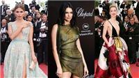 Những bộ váy xuyên thấu, hở ngực, không nội y của Kendall Jenner và dàn sao tại Cannes 2018