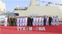 Lễ thượng cờ trên hai tàu Hộ vệ tên lửa Gepard 3.9 ở Đà Nẵng