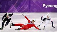Trượt ngã khi thi đấu, VĐV Triều Tiên bị tố cố tình chơi xấu đối thủ