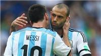 CẬP NHẬT sáng 1/7: Mascherano giã từ ĐT Argentina, nhắn nhủ Messi. Ronaldo san bằng kỷ lục thế giới