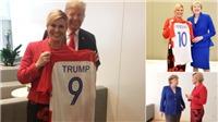 Không thể tới sân, nữ Tổng thống Croatia quảng bá cho đội tuyển ở hội nghị NATO