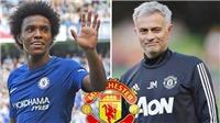 CHUYỂN NHƯỢNG M.U 28/7: Chelsea đồng ý bán Willian cho M.U. Chia tay Martial với 1 điều kiện