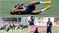 Sốc: Neymar diễn trò ăn vạ ngay trên sân tập Brazil trước trận gặp Bỉ