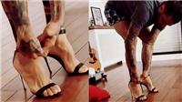 HÀI HƯỚC: Dani Alves xỏ giày cao gót, đi catwalk sành điệu như cô vợ nóng bỏng