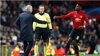 Tiết lộ lý do hy hữu khiến Pogba bị Mourinho bắt dự bị ở Champions League