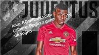 CHUYỂN NHƯỢNG M.U 13/12: Juventus ra giá cho Pogba. M.U xem giò 6 cầu thủ trong 1 trận đấu