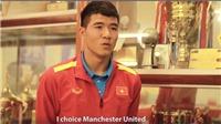 Hà Đức Chinh trả lời phỏng vấn AFF: Mê Ronaldo, yêu M.U, thích làm giáo viên thể dục