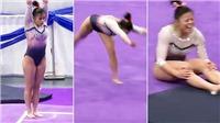 Nữ VĐV thể dục dụng cụ gãy cả 2 chân khi đang thi đấu vì tiếp đất sai cách
