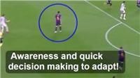 Phát sốt với clip Busquets quái kiệt, như có mắt sau gáy ở trận thắng Liverpool