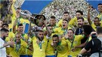 Bóng đá hôm nay 8/7: Brazil vô địch Copa America. Messi đối mặt án phạt nặng. Mỹ đăng quang World Cup nữ