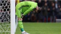 De Gea mắc lỗi dẫn tới bàn thua nhiều nhất Ngoại hạng Anh từ mùa trước tới nay