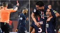 Neymar bị đuổi trong trận đấu có 7 bàn thắng của PSG